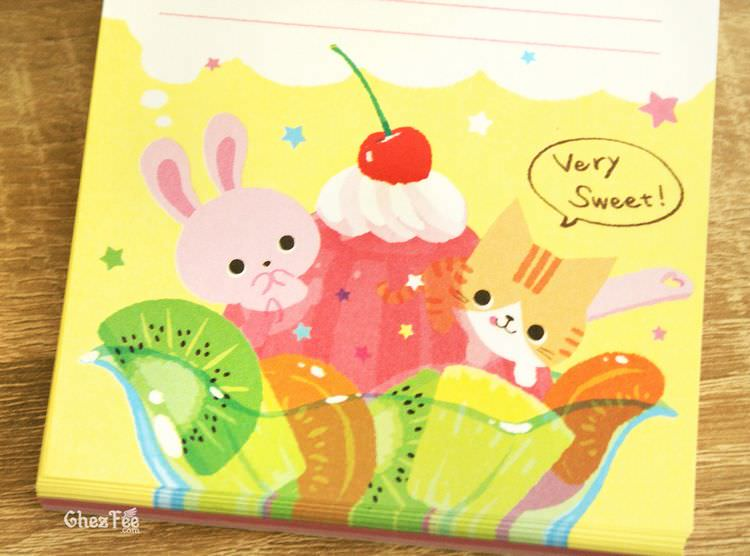 boutique kawaii shop cute papeterie chezfee carnet memo japonais usagi neko fruit 4
