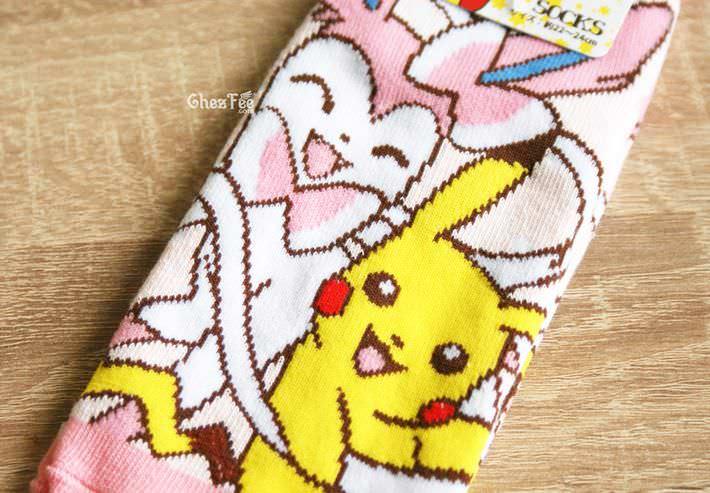 boutique kawaii shop cute authentique pokemon officiel chaussettes pikachu nymphali evoli 2