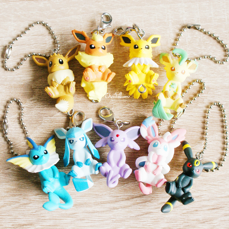 boutique kawaii objet shop chezfee pokemon officiel gashapon figurine evoli evolution 4