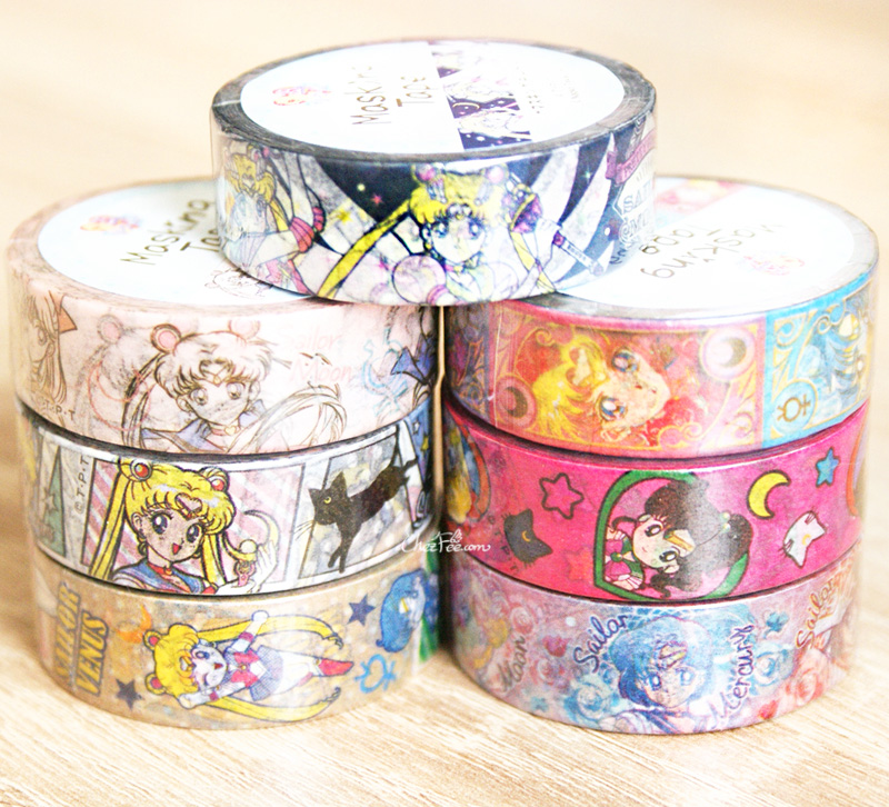 boutique kawaii shop chezfee france papeterie masking tape sailor moon officiel 1
