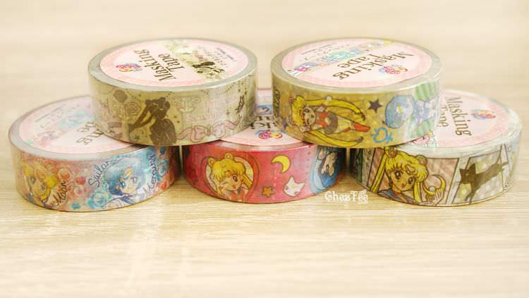 boutique kawaii shop cute chezfee france papeterie sticker masking tape sailor moon officiel authentique 2