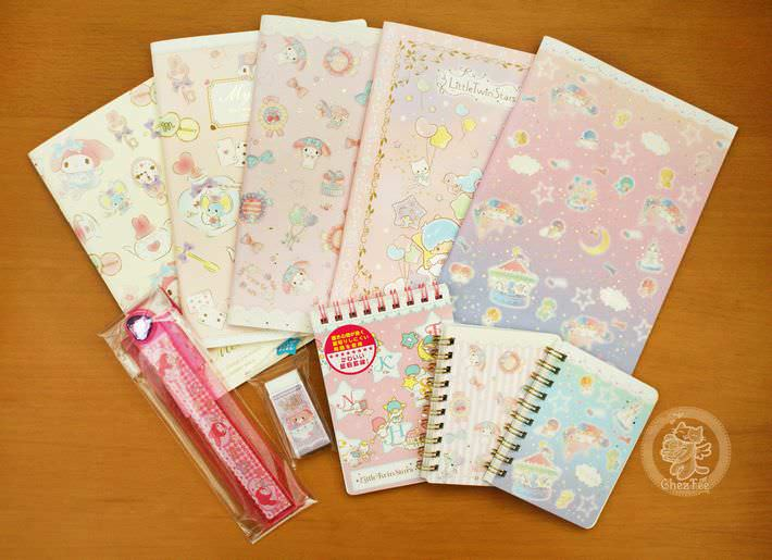 boutique kawaii shop chezfee com cute sanrio papeterie japonaise little twinstars papeterie stationery cahier carnet1