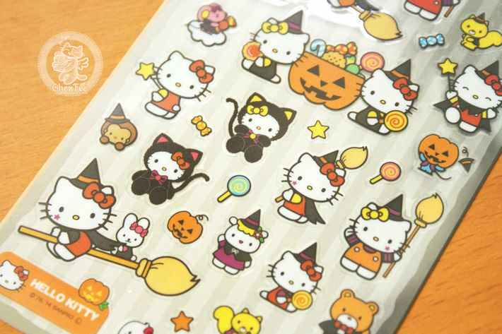 boutique kawaii france chezfee autocollant sticker sanrio authentique hellokitty halloween chat noir2