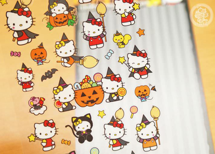 boutique kawaii france chezfee autocollant sticker sanrio authentique hellokitty halloween chat noir3