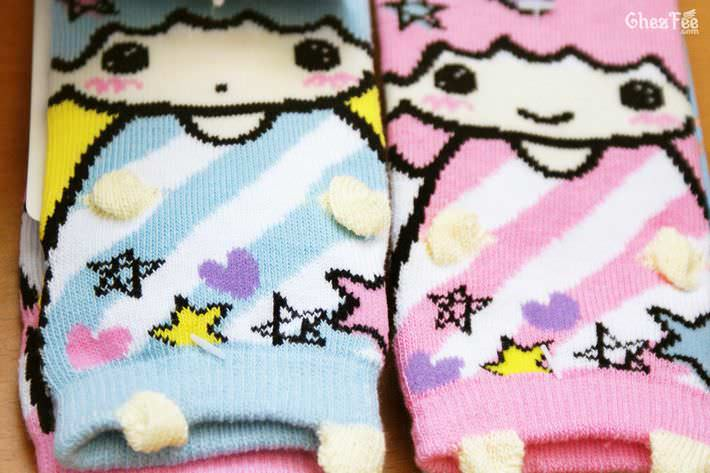 boutique shop kawaii france chezfee chaussette enfant amusantes fantaisie mignonnes little twin stars sanrio coton3