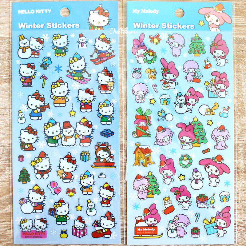boutique kawaii france chezfee autocollant sticker sanrio authentique hellokitty hellokitty noel 1