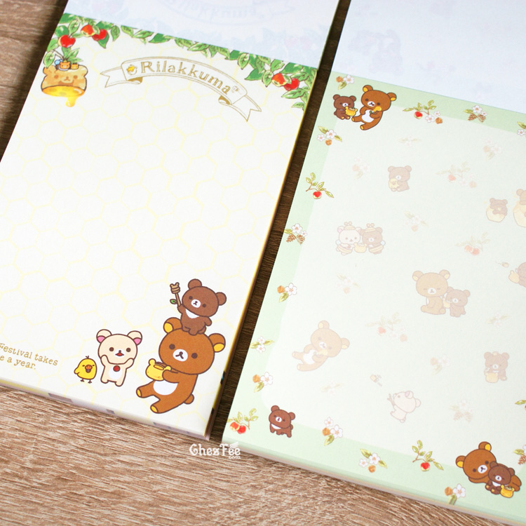 boutique kawaii shop chezfee sanx officiel rilakkuma miel foret carnet illustre 4