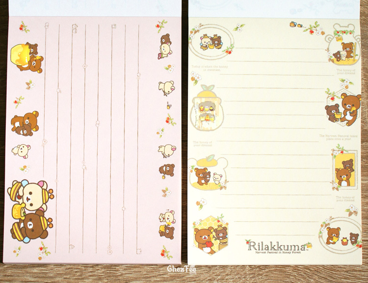 boutique kawaii shop chezfee sanx officiel rilakkuma miel foret carnet illustre 6