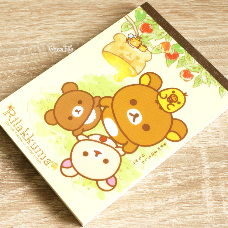 boutique kawaii shop chezfee sanx officiel rilakkuma miel foret carnet illustre abeille 2