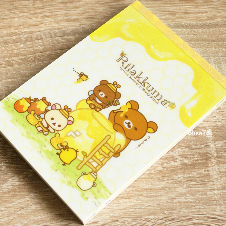 boutique kawaii shop chezfee sanx officiel rilakkuma miel foret carnet illustre miam 1