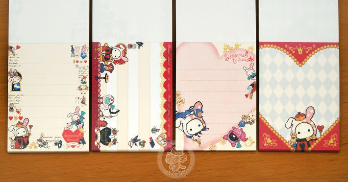 boutique papeterie fourniture kawaii shop en ligne chezfee com mini carnet sentimental circus alice reine4