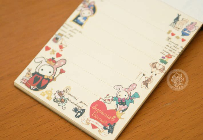 boutique papeterie fourniture kawaii shop en ligne chezfee com mini carnet sentimental circus alice reine5