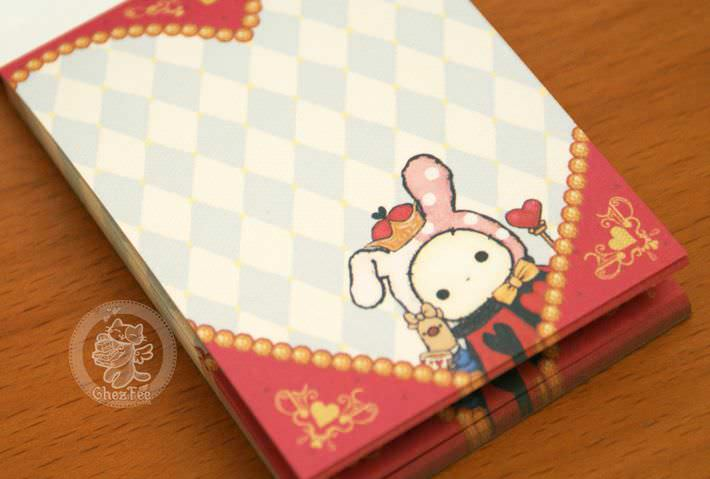 boutique papeterie fourniture kawaii shop en ligne chezfee com mini carnet sentimental circus alice reine8
