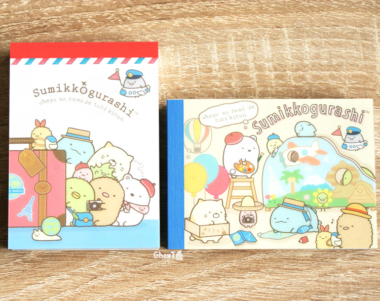 boutique kawaii shop chezfee sanx officiel mini carnet sumikko gurashi voyage vacance 2