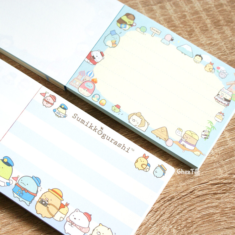 boutique kawaii shop chezfee sanx officiel mini carnet sumikko gurashi voyage vacance 5