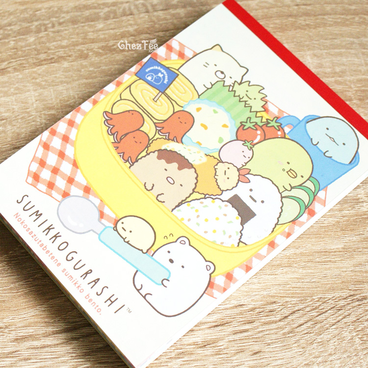 boutique kawaii shop cute chezfee sanx officiel carnet illustre sumikko gurashi bento 2