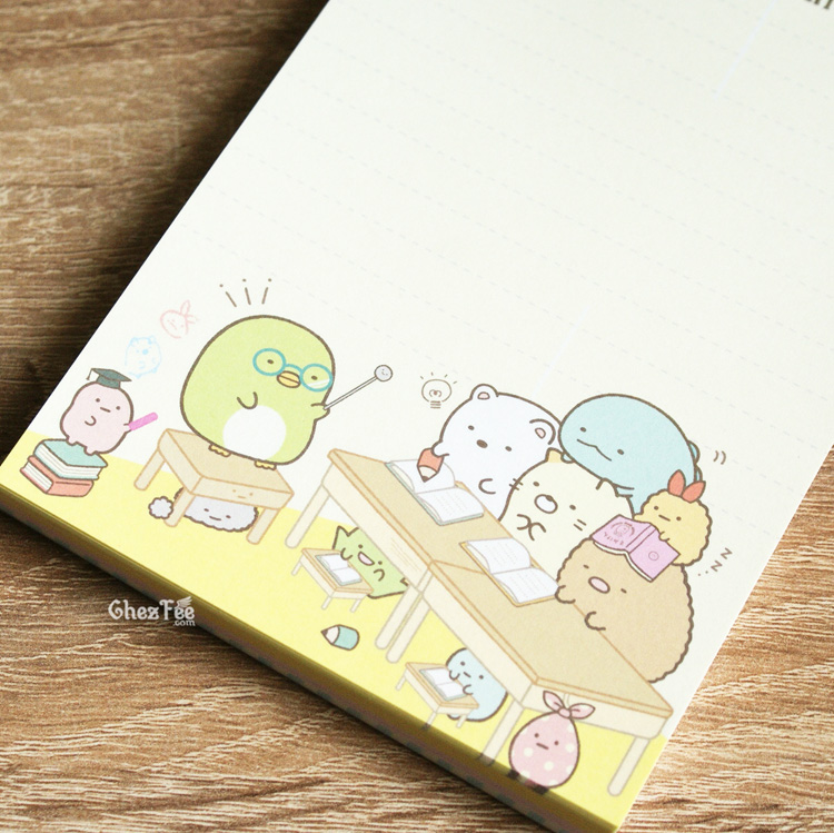 boutique kawaii shop cute chezfee sanx officiel carnet illustre sumikko gurashi ecole 5