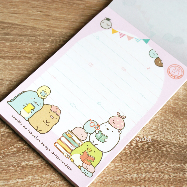 boutique kawaii shop cute chezfee sanx officiel carnet illustre sumikko gurashi ecole 7