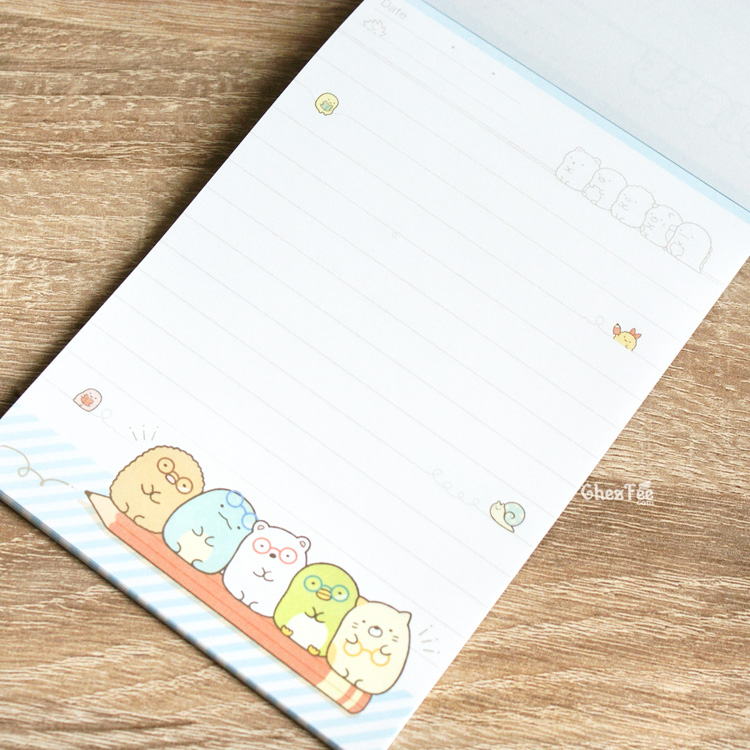 boutique kawaii shop cute chezfee sanx officiel carnet illustre sumikko gurashi ecole 8
