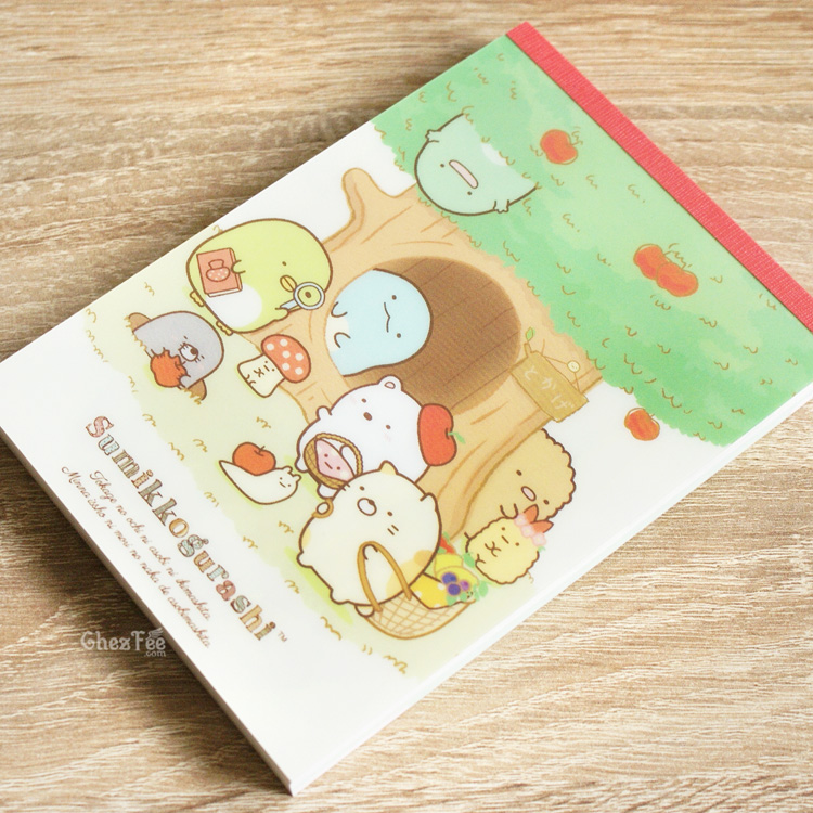 boutique kawaii shop cute chezfee sanx officiel carnet illustre sumikko gurashi foret fruits 2