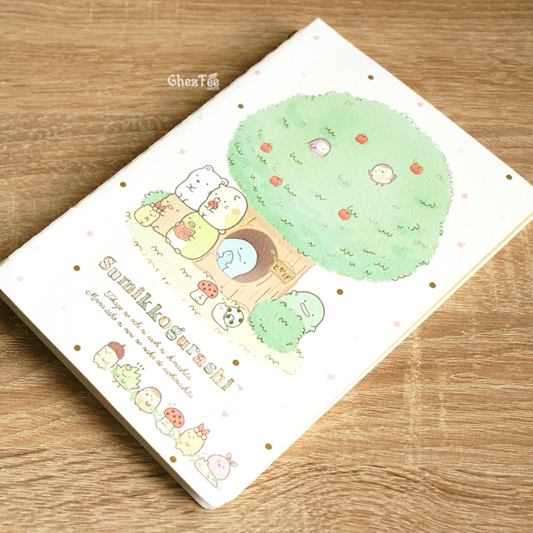 boutique kawaii shop cute chezfee sanx officiel carnet spiral sumikko gurashi foret fruits 3