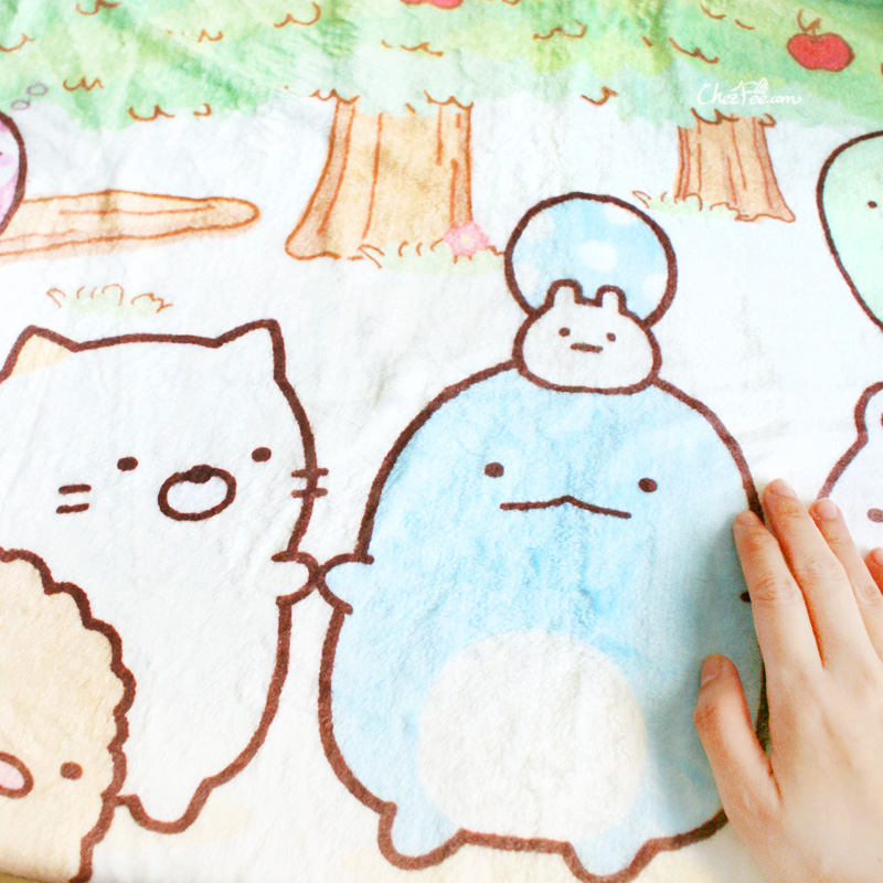boutique kawaii shop chezfee sanx sumikko gurashi couverture polaire foret 4