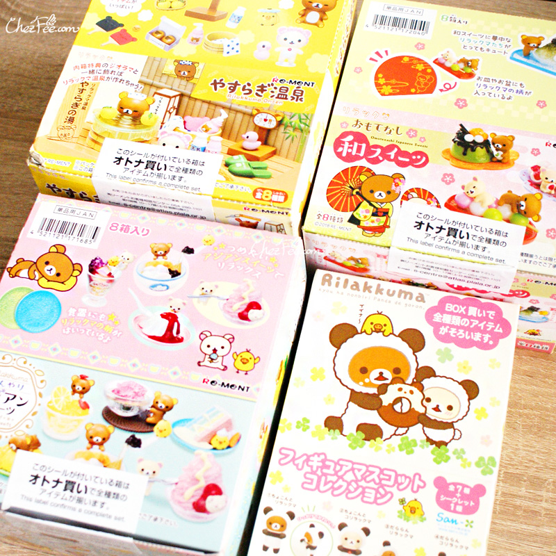 boutique kawaii shop chezfee sanx authentique re ment figurine rilakkuma