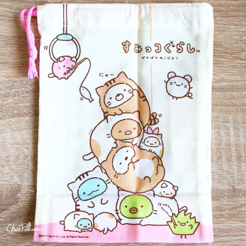 boutique kawaii shop chezfee japan pochon sac vrac coton sanx sumikko gurashi chat 2