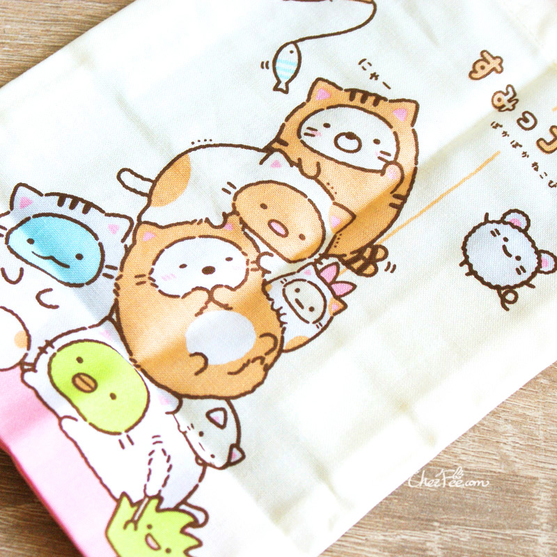 boutique kawaii shop chezfee japan pochon sac vrac coton sanx sumikko gurashi chat 3