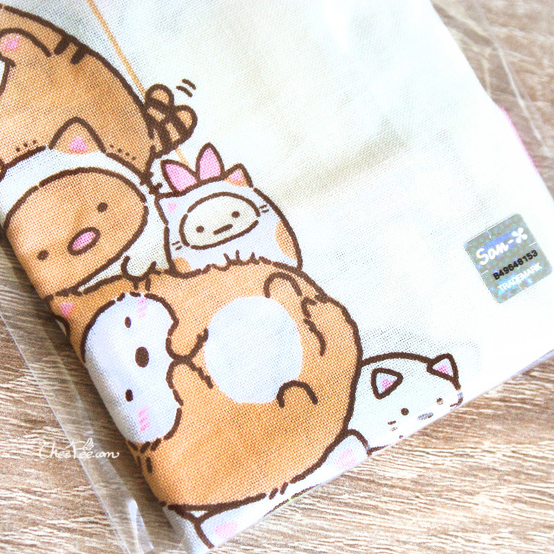boutique kawaii shop chezfee japan pochon sac vrac coton sanx sumikko gurashi chat 4