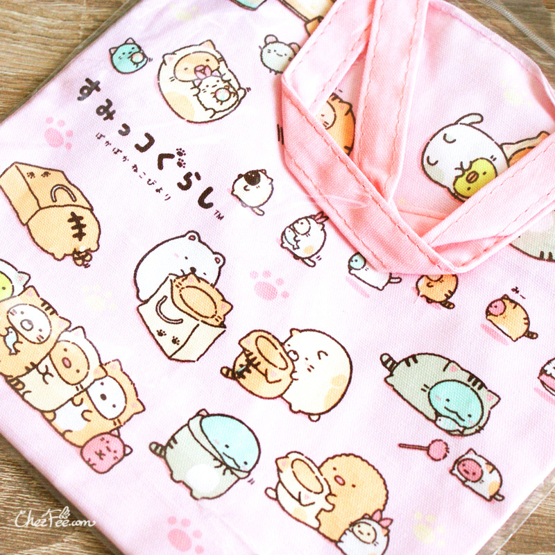 boutique kawaii shop chezfee japan tote bag coton sac vrac sanx sumikko gurashi neko 3