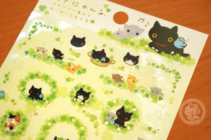 boutique kawaii shop papeterie chezfee com sticker autocollant mignon kutusita nyanko printemps2