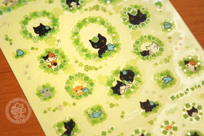 boutique kawaii shop papeterie chezfee com sticker autocollant mignon kutusita nyanko printemps3