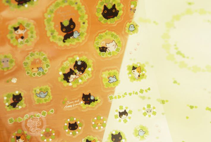 boutique kawaii shop papeterie chezfee com sticker autocollant mignon kutusita nyanko printemps5