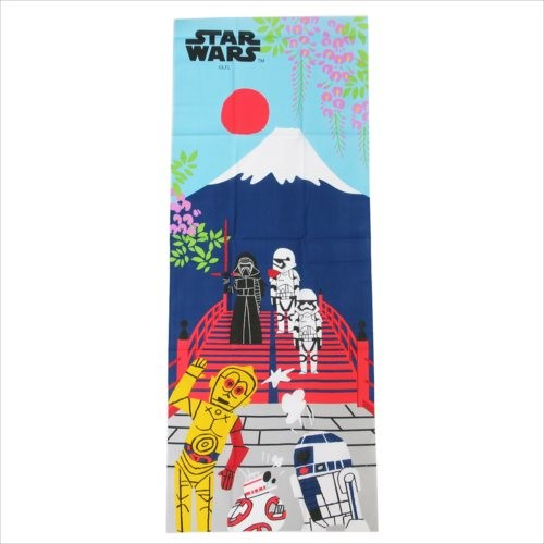 boutique kawaii shop chezfee tenugui serviette japonaise traditionnelle coton starwars kylo fuji 1