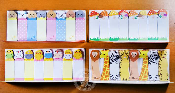 sticky note kawaii mini sticky notes kawaii animaux et for t 8en1 afrique. Black Bedroom Furniture Sets. Home Design Ideas
