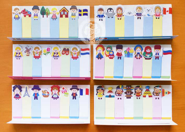 sticky note kawaii costume monde mignon 8en1 papeterie magasin chezfee2