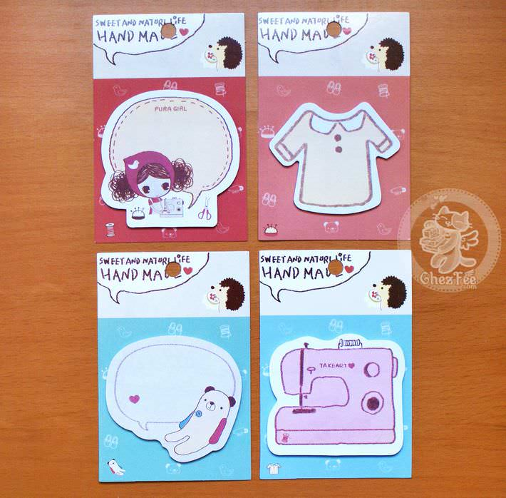 sticky note kawaii papeterie boutique magasin en ligne chezfee craft loisir set1