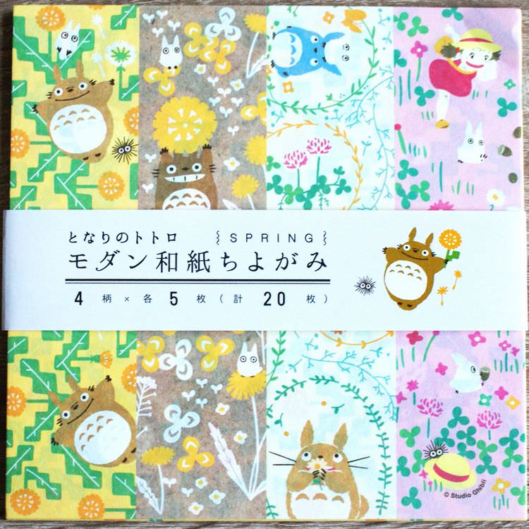 boutique kawaii shop chezfee papier washi loisir studio ghibli officiel authentique totoro printemps 1