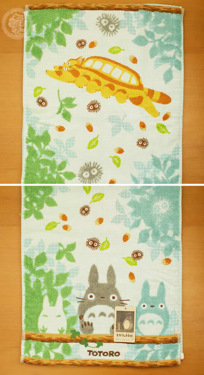 serviette nappe cotton totoro ghibli officiel authentique boutique kawaii shop chezfee com bois grande6