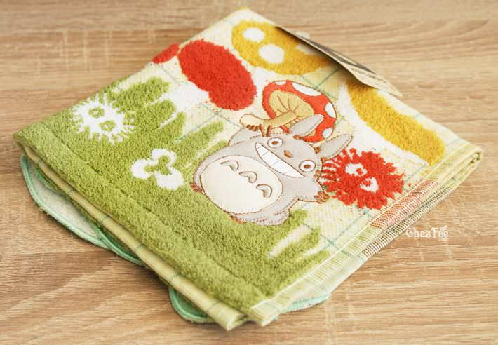 serviette cotton totoro ghibli officiel authentique boutique kawaii shop chezfee champignon 1