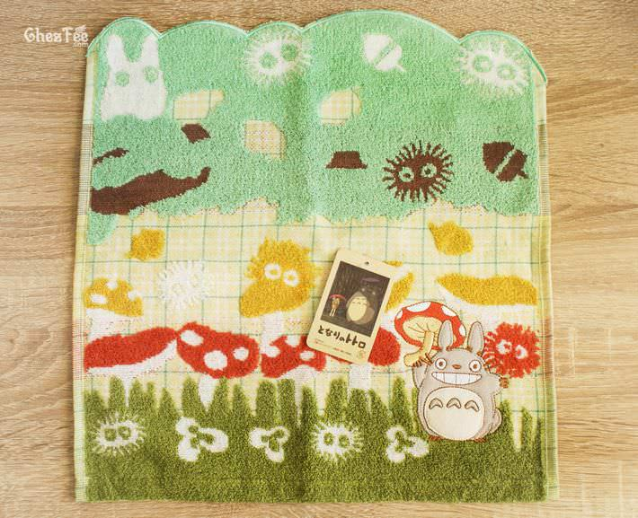 serviette cotton totoro ghibli officiel authentique boutique kawaii shop chezfee champignon 2