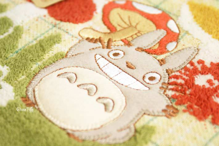 serviette cotton totoro ghibli officiel authentique boutique kawaii shop chezfee champignon 3