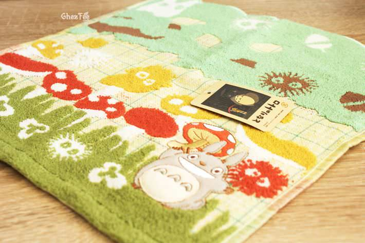 serviette cotton totoro ghibli officiel authentique boutique kawaii shop chezfee champignon 4