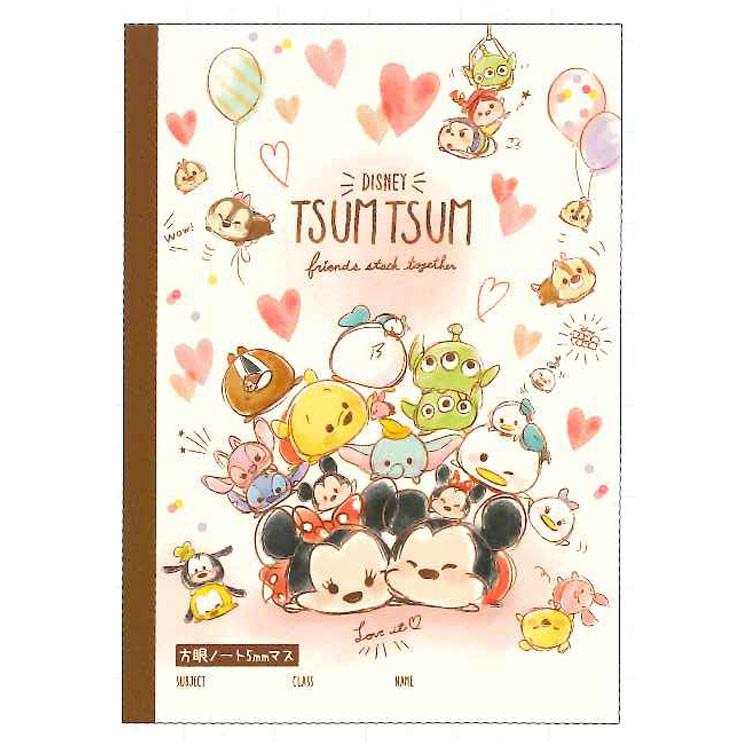 B5 Cahier Kawaii Pour Kanji Ou Hanzi Disney Japan Tsum Tsum Fabriqué Au Japon