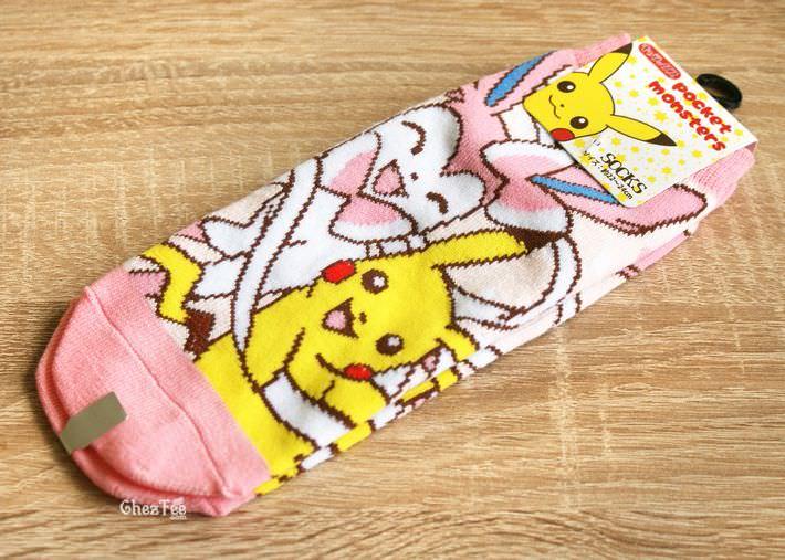 boutique kawaii shop cute authentique pokemon officiel chaussettes pikachu nymphali evoli 1