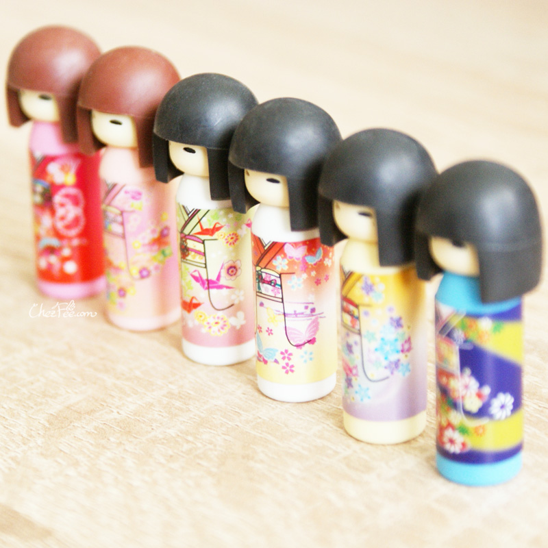 stylo crayon gomme kawaii gomme japonaise kawaii iwako kokeshi bleu fabriqu au japon. Black Bedroom Furniture Sets. Home Design Ideas