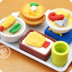 Nouveaut s set de 6 gommes japonaises kawaii iwako - Cuisine japonaise sante ...