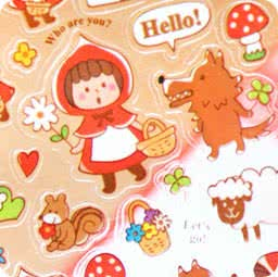 autocollant-japonais-mindwave-sticker-kawaii-mignon-conte-de-fee-chaperon-rouge-chezfee-boutique-kawaii
