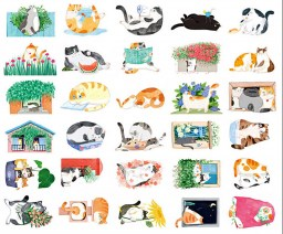 boutique-kawaii-shop-chezfee-carte-postale-postcard-chat-jardin-2